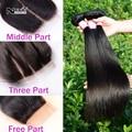 IRINA 7A Peruano reta cabelo virgem com fechamento base de rendas 3 pcs feixes de seda barato do cabelo humano trama produtos hot à venda melhor