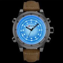 2018 NORTH Brand Design Fashion Men Quartz Wristwatch LED Waterproof Sport Men Watch Military Clock Business Relogio Masculino