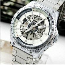 Аутентичные veyron/wilon полностью автоматические механические часы Хан издание мужские часы водонепроницаемый половины выдалбливают Личности стали