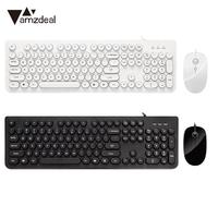 104 Keys Classic Keyboard Combo Mute Gaming Keyboard Set Keyboard Mouse Combos Computer Universal for Mac Competitive Durable