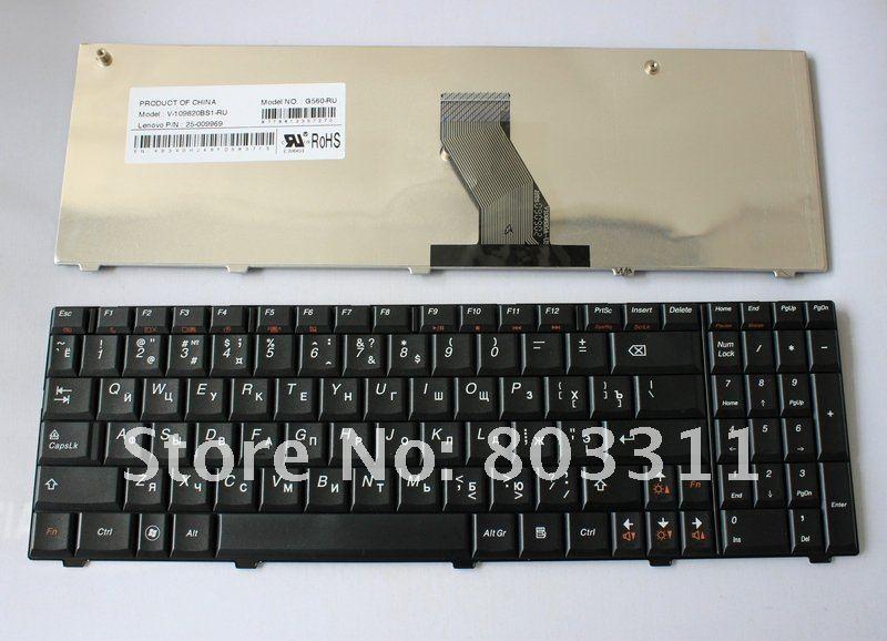 G560 Russian Layout Laptop Keyboard For Lenovo G560 G565 Black Keyboard V-109820BS1 RU Notebook keyboard new russian laptop keyboard for lenovo b5400 b5400a m5400 m5400at ru keyboard black