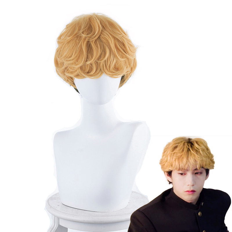 Kyou Kara Ore Wa Mitsuhashi Takashi Short Curly Wig Cosplay Costume Men Heat Resistant Synthetic Hair Party Role Play Wigs