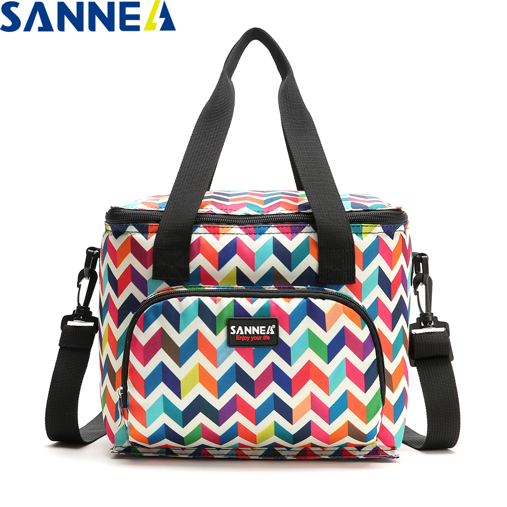 SANNE 2019 New Design Fashion Thermal Food Picnic Lunch Bags for Women Cooler Lunch Box Portable Multifunction lunch Bag YQ835