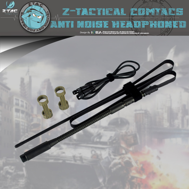 Z-TAC Z021 ZPRC-152 Antenna Package Dummy Foldable Blade Antenna With Extension Wire Webbing Microphone Accessories