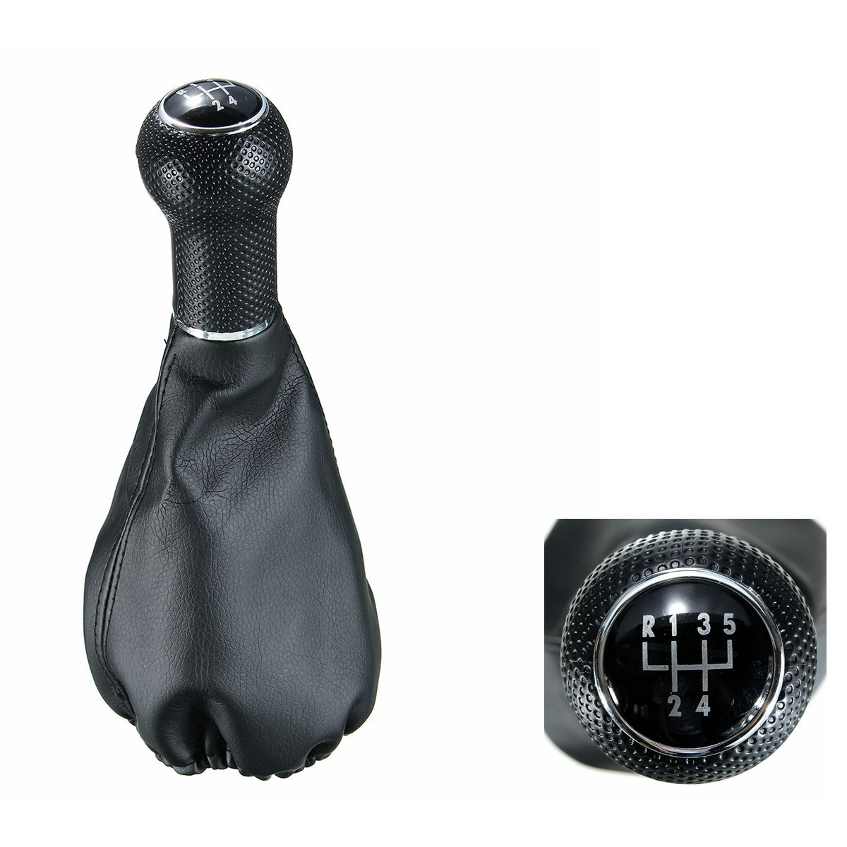 Gear Shift Knob Boot 5 Speed Leather For VW POLO ClASSIC 6N 6N2 SEAT IBIZA Auto