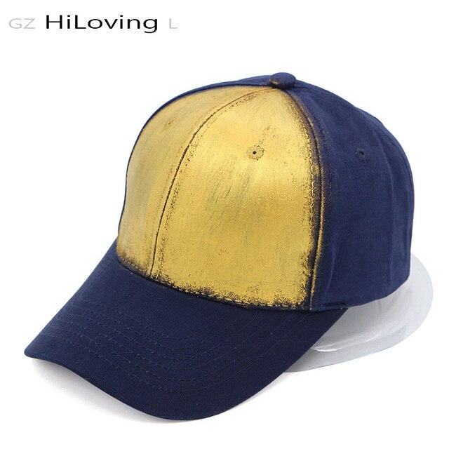 2b1d87f5 GZHilovingL News Summer Spring Women Men Couple Gold Metallic Baseball Hat  Caps Unisex Adjustable Solid Cotton Snapback Cap Hats