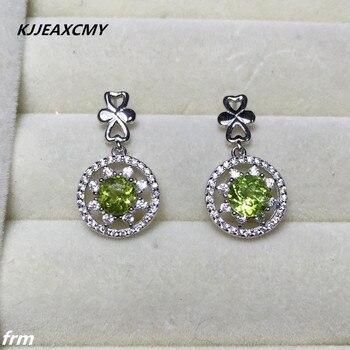 75c79dcbfc73 Kjjeaxcmy joyería fina natural Peridot pendientes al por mayor Plata de Ley  925 del embutido color