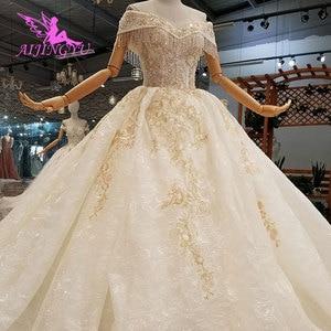 Image 2 - AIJINGYU muzułmanin suknie ślubne 2 sztuka suknie korzystnym cenowo sklepie Bridals z kolor Plus rozmiar suknia ślubna sukienka pomysły