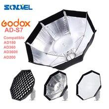Godox AD S7 caja difusora de Flash de rejilla multifuncional para WITSTRO flash AD 180 AD 360 AD360II AD200