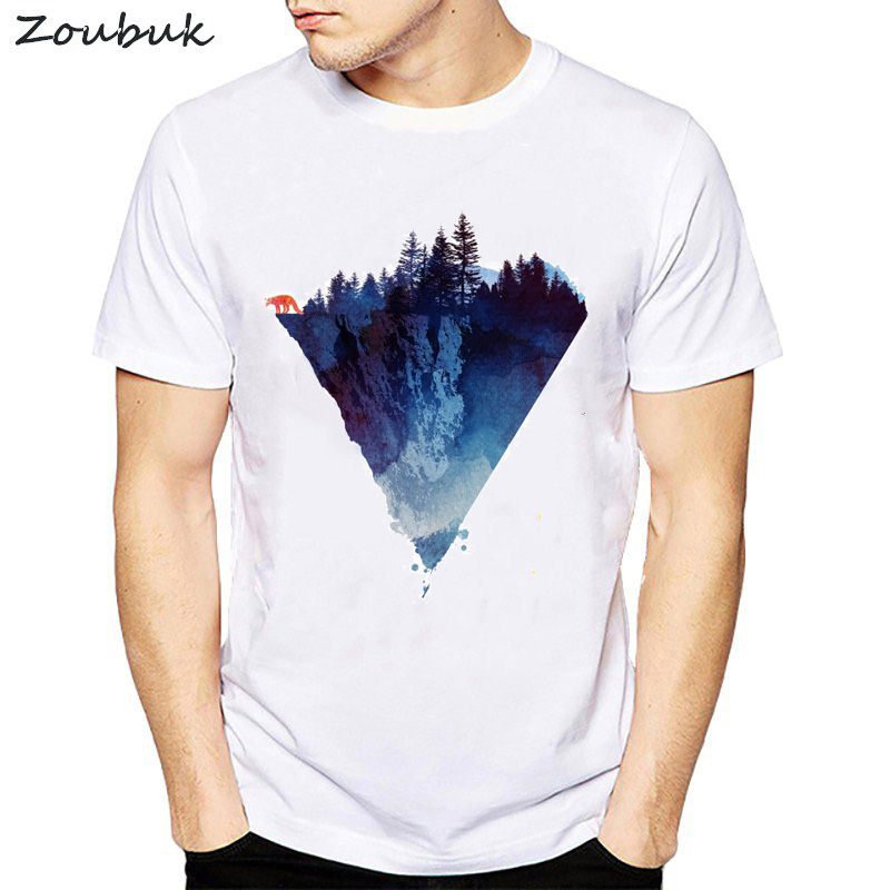 b9ad0473 2018 Fashion Iceberg Print T shirt Men Mountain Design T-Shirt Casual Cool Mens  Shirts