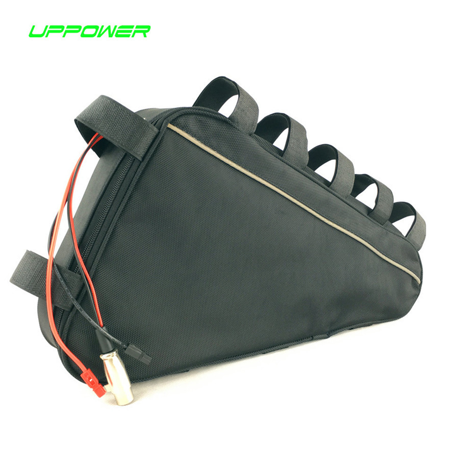 US EU Free Tax Triangle bag li-ion battery pack 48 volt Electric Bike battery 48V 15Ah Lithium ion battery for 8fun 750W motor 48 volt li ion battery pack electric bike battery with 54 6v 2a charger and 25a bms for 48v 15ah lithium battery