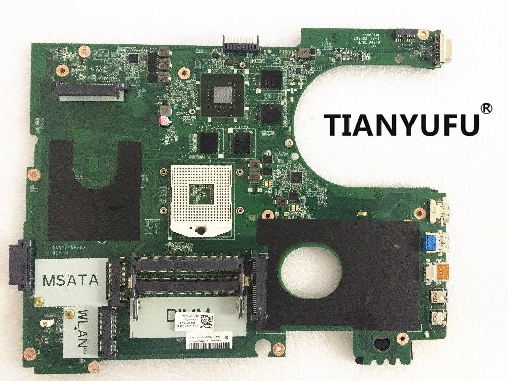for DELL Inspiron 17R 7720 MOTHERBOARD CN 072P0M DA0R09MB6H3 REV H PGA989 DDR3 GT650M 2GB laptop