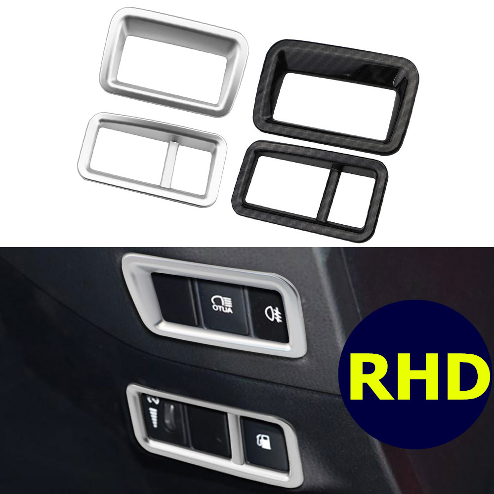 LHD RHD Car Accessories For Toyota C-HR CHR 2017 2018 Interior ABS Head Lights Lamp Switch Button Cover Trim Stickers