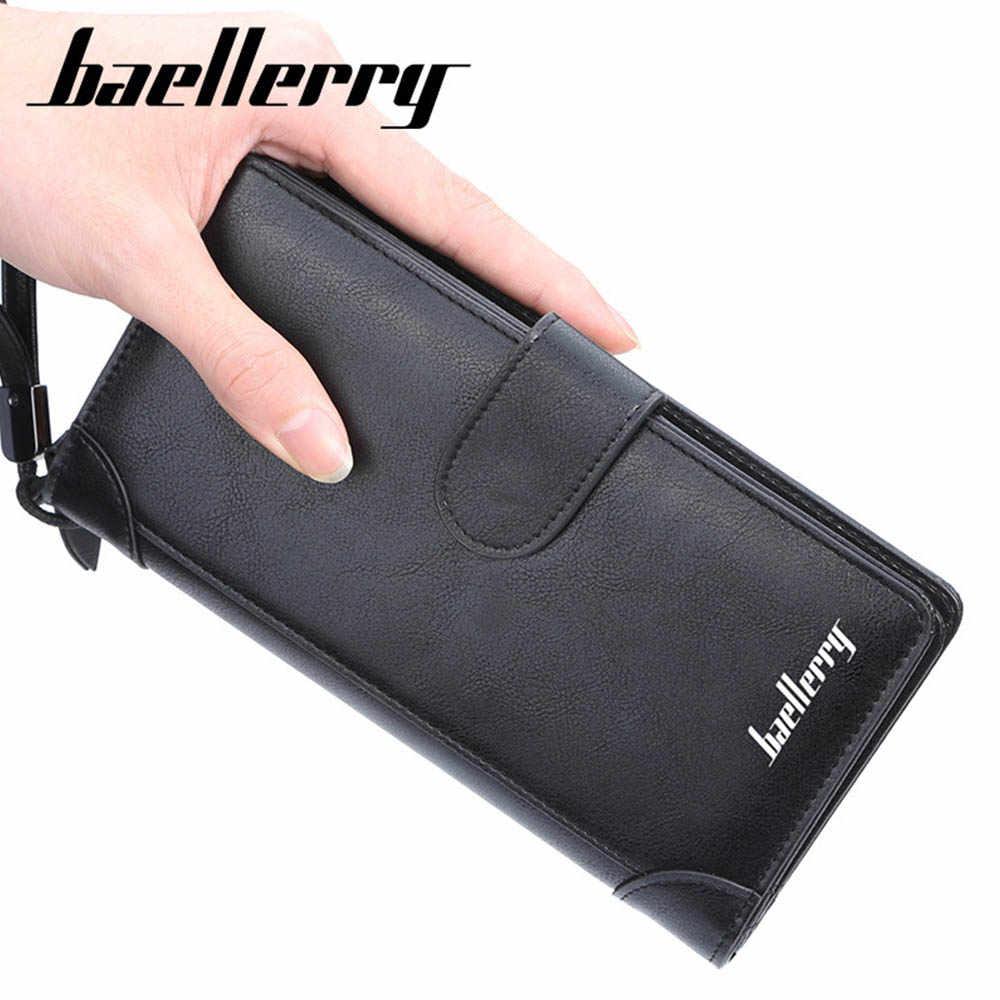 Baellerry Männer Lange Brieftaschen Stil Karte Halter Männlichen Geldbörse Qualität Zipper Große Kapazität Große Marke Luxus Brieftasche Für Männer