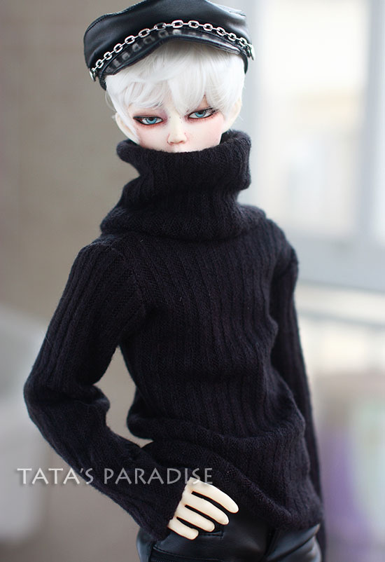 Fashion black  turtleneck  sweater  For BJD 1/3  ,SD17 ,UNCLE Doll Clothes Accessories fashion black turtleneck sweater for bjd 1 3 sd17 uncle doll clothes accessories