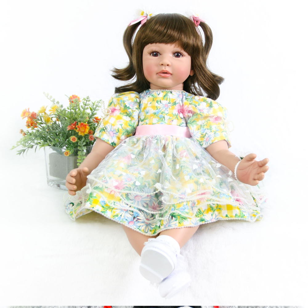 24inch Silicone vinyl reborn babies doll princess toddler Lifelike real touch modeling doll fashion bedtime adorable toys24inch Silicone vinyl reborn babies doll princess toddler Lifelike real touch modeling doll fashion bedtime adorable toys