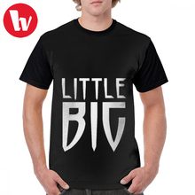 Little Big T Shirt Logo Text Design T-Shirt Man Graphic Tee 100 Percent Polyester Cute Short-Sleeve Tshirt