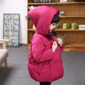 Children's clothing girls winter coat kidswadded jacket outerwear medium-long thickening child winter cotton-padded jacket