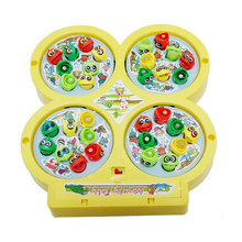 Electric Rotating Magnetic Magnet Fishing Kid Children Educational Toy Game(China)