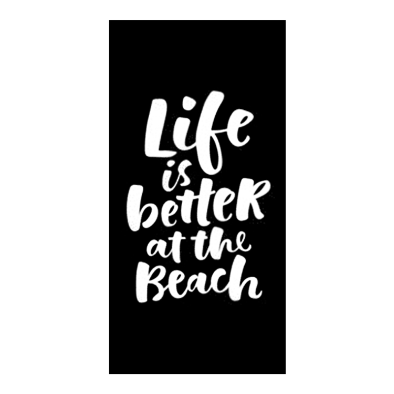 Modern Life Is Better At the Beach Microfiber Towel Funny Novelty Summer Holidy Vacation Swimming Pool Towel for Bath Gift Quote