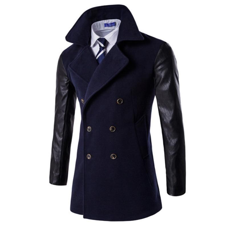 New Winter Men Casual Coat Jacket Long Section Of Fashion Windbreaker Veste Homme Brand Mens Keep Warm Coat Casaco Masculino