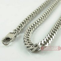 Chrismats Gift Free Shipping MENS CHAIN 55cm Long 10mm Wide 316L Stainless Steel Chain Necklace Retail