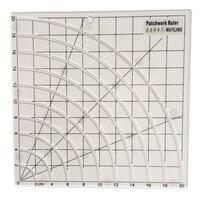 Free Shipping 1pcs Transparent Acrylic Material Slotting Centimeter Scale 20 20cm Slip Patchwork Ruler