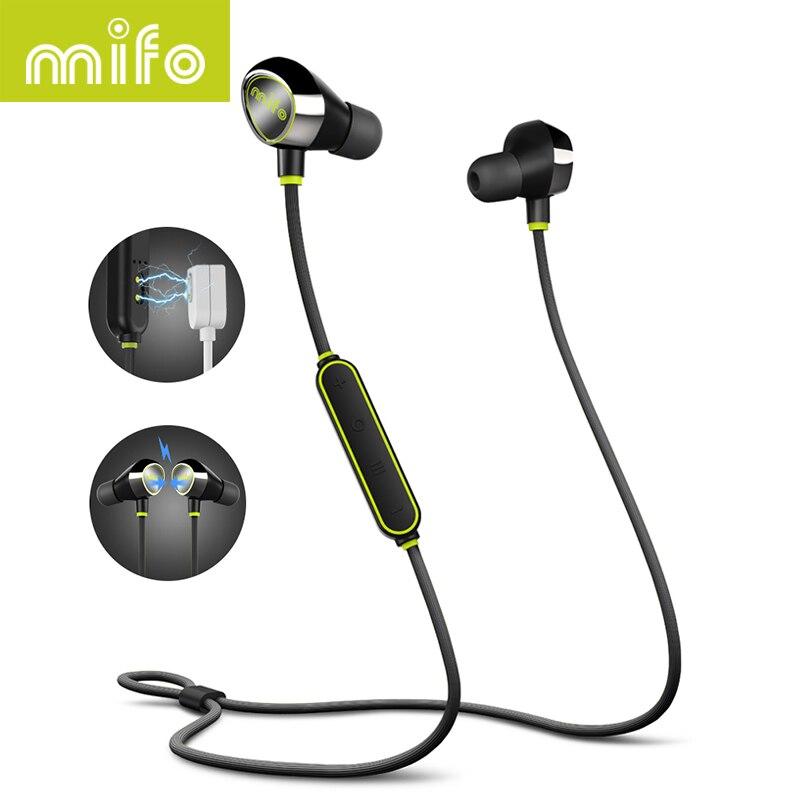 Mifo i8 Sucção Magnética Carregamento Sem Fio Do Fone de Ouvido Bluetooth Estéreo Música Esportes fone de Ouvido Fone de Ouvido Intra-auriculares Fones De Ouvido Para Telefones