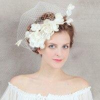 Hotsellingอินเทรนด์ดอกไม้ลูกไม้อุปกรณ์ผมสำหรับผู้หญิงผ้าคลุมหน้า