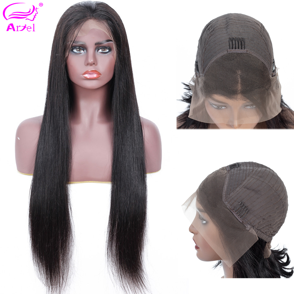 Straight Lace Front Wig 13  4 Lace Front Human Hair Wigs Baby Hair Indian Non Remy Glueless Lace Wigs Brown Lace Wig Human Hair-in Human Hair Lace Wigs from Hair Extensions & Wigs    1