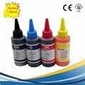 4 color dye ink para hp 100 ml kit de recarga de tinta 100 ml garrafa a granel ciss cartucho de tinta recarregáveis para hp impressora de tinta universal
