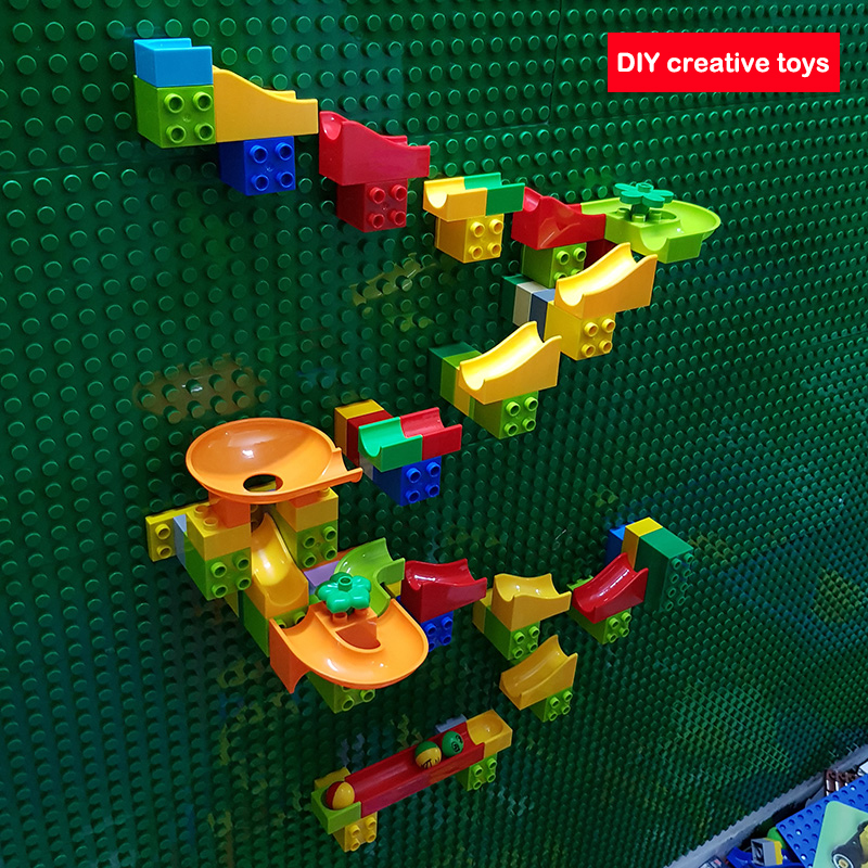 Creative Building Block Wall Base Plates Marble Race Run Construction Toys Compatible LegoING Duplo Educational Toys For KidsCreative Building Block Wall Base Plates Marble Race Run Construction Toys Compatible LegoING Duplo Educational Toys For Kids