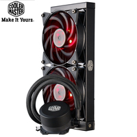 Cooler Master B120 B240 CPU Water Cooler 120mm Red LED Quiet Fan For Intel 1155 1156 2011 2066 AMD AM4 AM3 CPU Liquid cooling