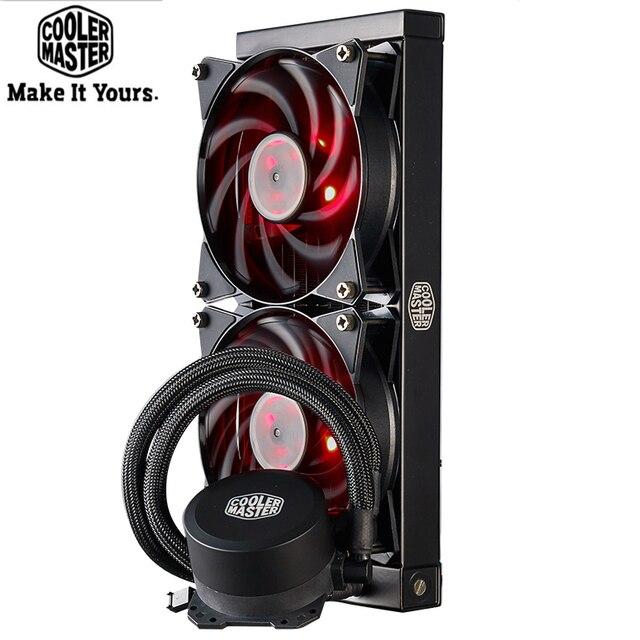 Refrigerador mestre b120 b240 cpu refrigerador de água 120mm vermelho led silencioso ventilador para intel 1155 1156 2011 2066 amd am4 am3 cpu líquido refrigeração