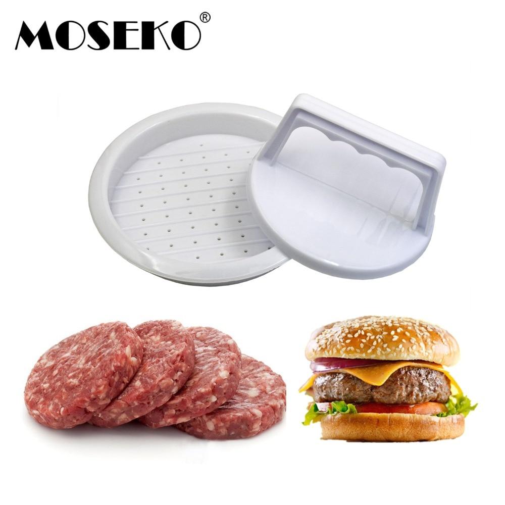MOSEKO 1 Set DIY Hamburger Meat Press Tool Patty Makers Stuffed Burger Maker Plastic Mold Hamburger Press Beef Barbecue Tools