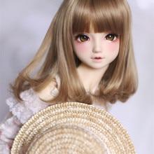 BJD кукла парики светильник коричневый Цвет Груша вьющиеся парики высокотемпературный провод для 1/3 1/4 куклы BJD DD DY Аксессуары куклы парики