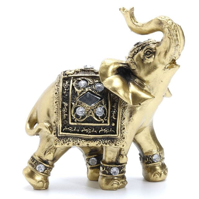 Elephant Statue Resin Elephant With Diamond Souvenir Garden Home Decoration