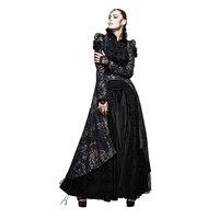 Punk Gothic Weiche Spitze Marken Swallow Tail Mantel Frack Druck Jacke Asymmetrische Tau Brust schwanz Frauen Oberbekleidung mantel