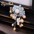 Special nova moda pérolas naturais broches pin broche de flor buquê de casamento romântico jóias presentes para mulheres s1607b