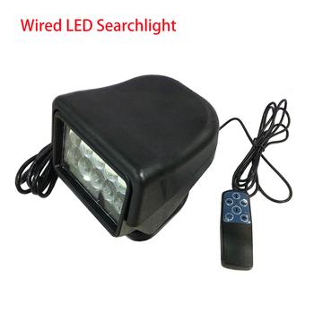 Remote Control LED Marine search light Wired Controlling LED Searchlight marine LED Light searching 5 inch 60W Search light image