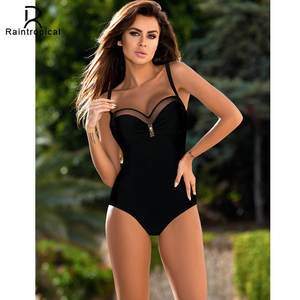 5c9f4ff3fd Raintropical Women Retro Female Swimsuit Plus Size Swimwear One Piece  Swimsuit