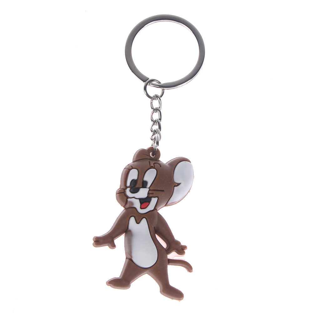 2Ps cartoon Tom and jerry Key Chains Metal 3D Key Ring Party Gift Bag ornaments