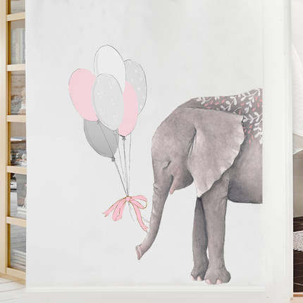 Us 9 38 6 Off 85 70cm 3d Elephant Wallpaper Vinly Wall Sticker Diy Abstract Animal Poster Nordic Style Kids Rooms Living Room Home Decor In Wall
