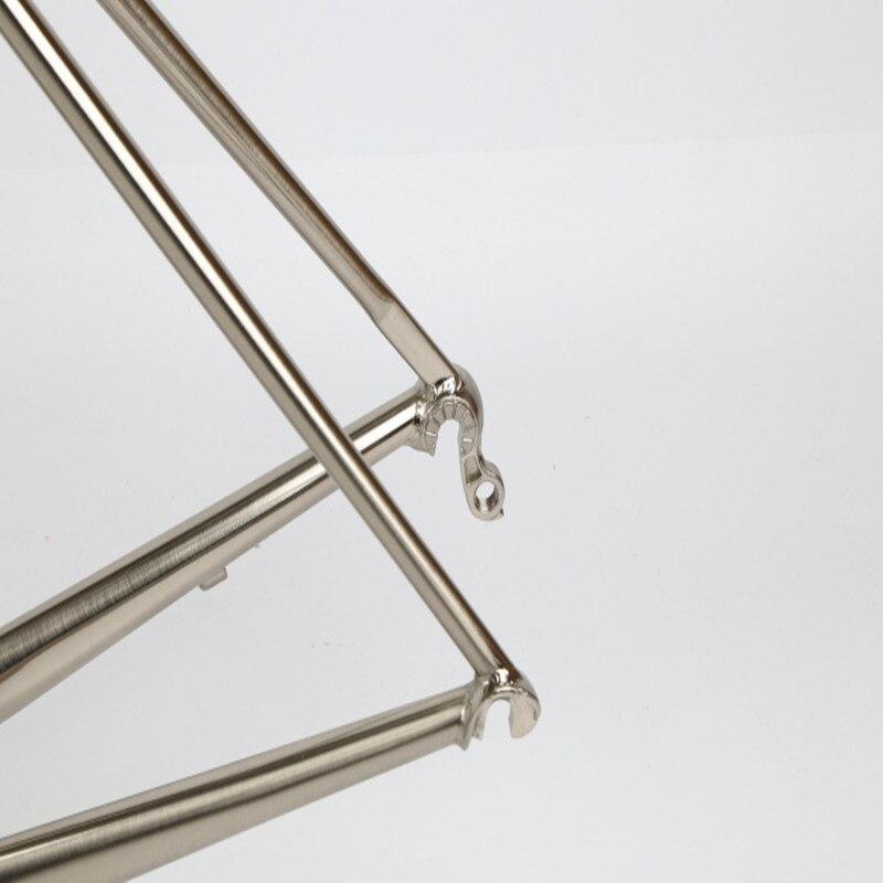 Top TSUNAMI 520 chrome-molybdenum steel Bicycle Frame Road Bike Frame + full carbon front Fork or steel Fork 4