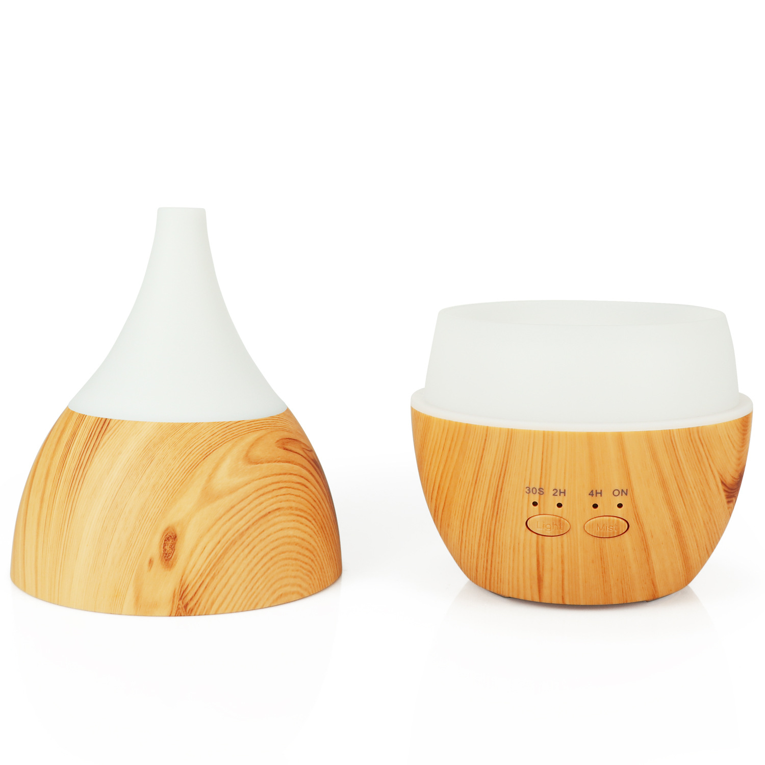 USB Ultrasonic Humidifier 300ml Aroma Diffuser Essential Oil Diffuser Aromatherapy mist maker with 7 color LED Light Wood grain in Smart Accessories from Consumer Electronics