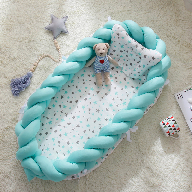 Baby Mattresses For Bed Portable Baby Lounger For Newborn Crib Breathable And Sleep Nest With Pillow New Born Baby Bassinet Bed