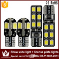 2pcs show wide light canbus 5730 8smd led + 2pcs license plate lights Special car 2835  12smd led kit For honda CR-V 2007-2011