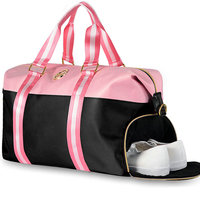 Travel nylon bag women 2018 New Waterproof nylon duffle bag for girls pink travelling Shoulder Bags travel bags hand luggage