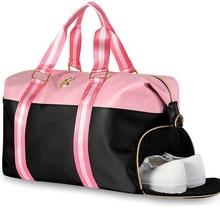 کیف مسافرتی 2018 کیف های جدید ضد آب آکسفورد ضد آب سیاه و سفید کیسه شانه زنانه کیف دستی خانمها کیسه های سفر کیسه سفر آخر هفته