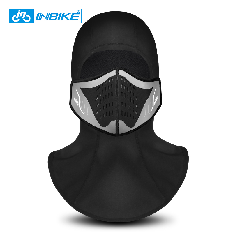 INBIKE 2018 Winter Cycling Face Mask Cap Ski Bike Mask Face Thermal Fleece Snowboard Shield Hat Cold Headwear Bicycle Face Mask long keeper 10pc lot balaclava winter men women skullies face neck mask cap thermal winter cyling bike riding running hat